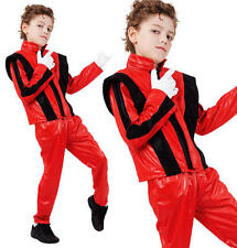 Para Niños Niños Superstar Fancy Dress Costume Michael Jackson Thriller Traje M