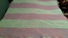 Queen King Size Crochet Blanket Bedspread Quilt Handmade Huge 85 X 88 In
