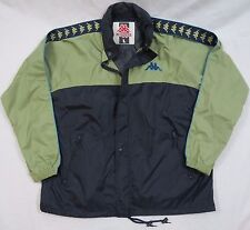 Vintage 90s Kappa Men's Color Block Windbreaker Hooded Jacket Blue Green Size L
