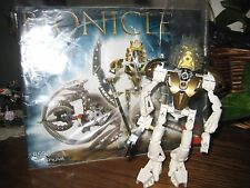 Lego Bionicle  8596 Takanuva Figure + Instructions + Weapon + HTF Glitter Mask