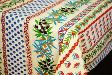 """LE CLUNY, OLIVES & MIMOSAS, CREAM, PROVENCE COATED COTTON TABLECLOTH, 60"""" x 84"""""""