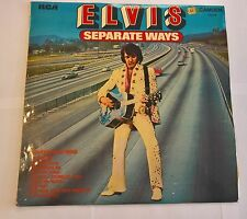 Elvis Presley Separate Ways vinyl LP album record UK CDS1118 RCA 1973