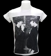The Beatles John & Paul Vintage Retro Graphic T-Shirt Legend Rock Music Band L