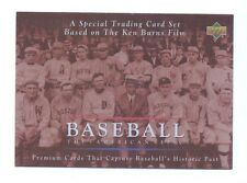 1994 Upper Deck HEADER CHECKLIST American Epic Ken Burns Baseball Card