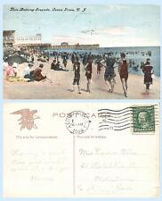 Ross Bathing Grounds Period Dress Ocean Grove New Jersey 1909 IPC Postcard