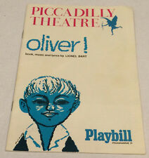Oliver Program 1967 Playbill Piccadilly Theatre Musical Lionel Bart London