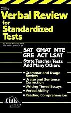 Verbal Review for Standardized Tests (Cliffs Test Prep) by Covino, William A.;