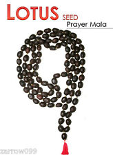 KAMAL GATTA  LOTUS SEED JAPA MALA 108+1 BEADS PRAYER HINDU MEDITATION