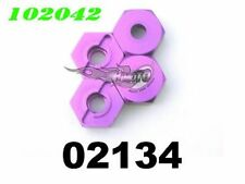 02134 4 DADI TRASCINATORI IN ERGAL DA 12mm 102042 1:10 ALUMINIUM WHEEL HEX MOUNT