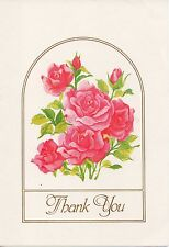 Rose Bouquet of Seven Roses Thank You Note By Montag The Mead Corporation 1981
