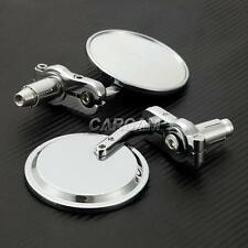 "Chrome Round 7/8"" Handlebar Bar End Mirrors Fits Vespa GTS GTV 250 300"