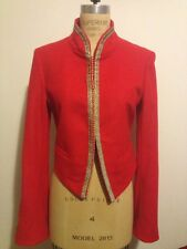 Bird By Juicy Couture Tibetan Red Kings Beaded Shimmer Jacket Sz M NWT
