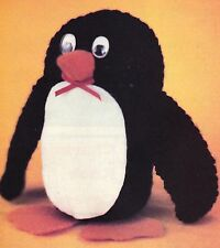 ADORABLE PJ Penguin/Toy/ Crochet Pattern INSTRUCTIONS ONLY
