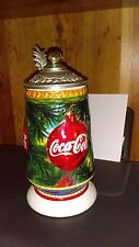 ANHEUSER BUSCH 1998 COCA COLA HOLIDAY CANDY CANE STEIN
