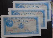 RUMäNIEN ROMANIA P 55  5000 Lei  1943  fast kassenfrisch kfr unz aUNC   3 Noten
