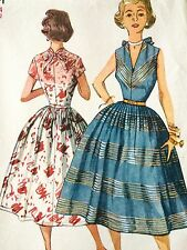 Vintage Orginal 50s 60s Women's Full Skirt Dress Sewing  Pattern , Bust 32