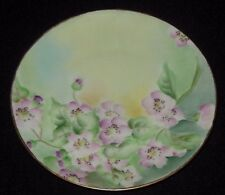 Hermann Ohme Silesia Hand Painted Plate Pink Flowers 1900