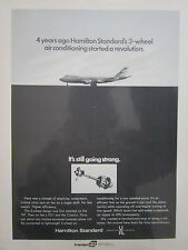 4/1972 PUB HAMILTON STANDARD 3 WHEEL AIR CONDITIONNING BOEING 747 TRISTAR AD