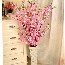 50inch Artificial Cherry Spring Plum Peach Blossom Branch Silk Flower Home Decor