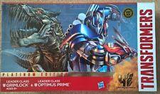 Transformers Leader Class Optimus Prime vs Grimlock Platinum Edition 2 Pack rare