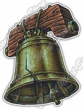 "The Liberty Bell Freedom Independence USA Car Bumper Vinyl Sticker Decal 4""X5"""