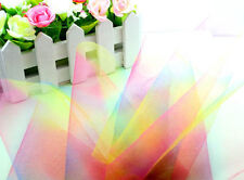 "5yd 6"" rainbow tulle fabric tutu trim craft Wedding Decoration dress DIY L1976"
