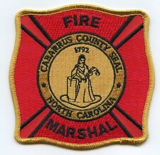CABARRUS COUNTY NORTH CAROLINA NC Fire Marshal FIRE PATCH
