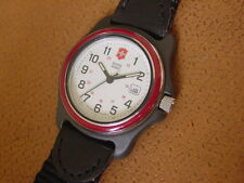 Vintage Swiss Army Ladies Wrist Watch ..... Red Bezel Ring