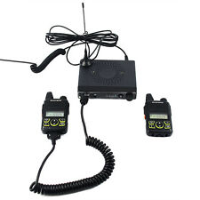 Baofeng MINI Mobile Car Radio Transceiver+Two Way Radios UHF VOX Emergency Call