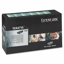 Genuine 12A4715 Lexmark Black Toner Cartridge - Black,Laser,12000 Page, 1 Each