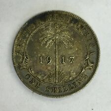 British West Africa George V Silver 1917 One Shilling Coin