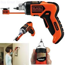 Battery Powered Screwdriver Cordless Black & Decker Magnetic Screw Holder - NEW