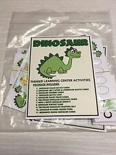 DINOSAUR  -  THEMED Learning Activities Package -LAMINATED - Teaching supplies