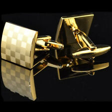 Classic Square Golden Silver Cufflinks Men's Wedding Party Gift Cuff Links