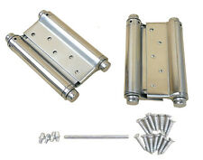 "A Pair 5"" Adjustable Double Action Spring Hinge Saloon Cafe Swing Door w Screws"