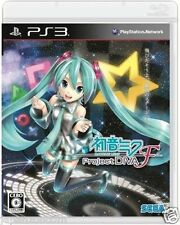 Used PS3 Hatsune MIKU Project DIVA F  PLAYSTATION 3 SONY JAPAN JAPANESE IMPORT