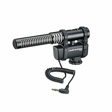 Audio-Technica AT8024 Stereo/Mono Camera-Mount Micr for DSLRs and Video FREE 2DA