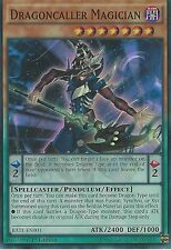 3X YU-GI-OH CARD: DRAGONCALLER MAGICIAN - SUPER RARE - RATE-EN001 1ST EDITION