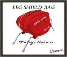 *HONDA STEP THRU C50 C65 C70 C90 CM90 CM91 LEG SHIELD BAG W/ CHROME RACK [RED]