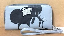 Disney Parks Gray Minnie Mouse Wallet Wristlet Zipper Credit Card and ID Holder