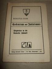Godentum und Judaismus,Renatus Ram,1921,seltenes Buch!!!Judentum,Bilder s.Text