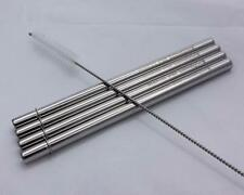 4 Safer Rounded End Stainless Steel Metal Reusable Straws for Pint Mason Jars