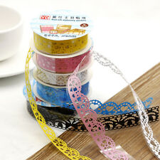 5X Lace Adhesive Masking Tape Decor Stickers Stationery Scrapbooking Washi DIY