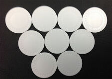 NEW 500 4g WHITE Plastic Diamond Roulette or Poker Chips NEW Free Shipping *