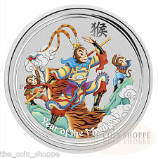 MONKEY KING - 2016 1 oz Pure Silver Color BU Coin - Perth Mint - CAPSULE