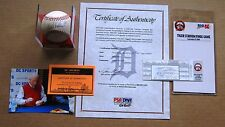 Detroit Tiger Stadium Final Game Ticket & GAME READY Ball Signed  Al Kaline  COA
