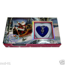 New Set Santa Box Love Wish Pearl Necklace Set Oyster Drop Pendant Xmas Gift