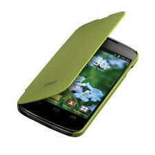 FLIP COVER FOR LG GOOGLE NEXUS 4 GREEN CASE SLIM BACK SHELL HARD MOBILE PHONE