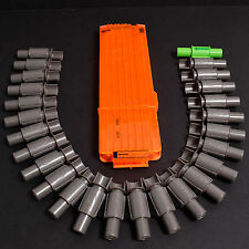 Nerf Vulcan 25 Round Ammo Belt & 18 Round N-Strike Magazine Clip Orange No Darts