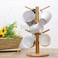 Wood Mug Tree Stand Cup Rack Cup Saucer Stand Coffee Cup Stand Tea Cup Stand